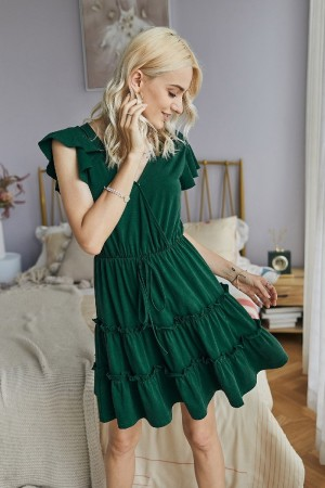 Soft Cotton Green Dress