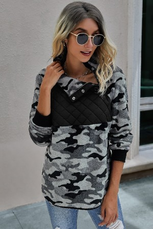 Black Camouflage Fleece