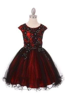 Red & Black Tulle Dress