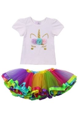 Rainbow Tutu Unicorn Set