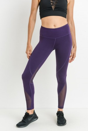 Dark Purple Mesh Legging