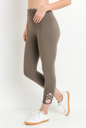 Putty Color Capri Legging