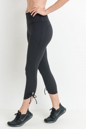 Soft Black Capri Legging