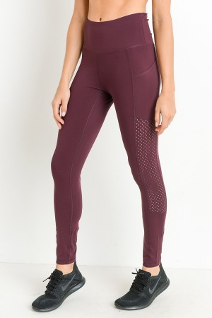 Burgundy High Waist Legging